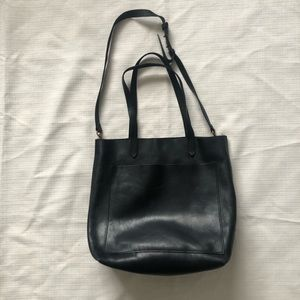 MADEWELL Medium Black Leather Transport